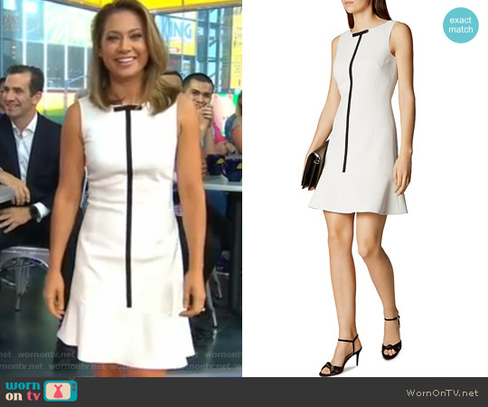 Contrast Trim Dress by Karen Millen worn by Ginger Zee on Good Morning America