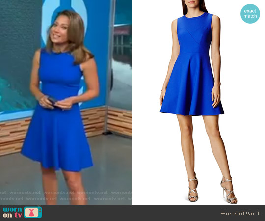 Seamed Skater Dress by Karen Millen worn by Ginger Zee on Good Morning America
