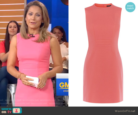 Textured Fitted Dress by Karen Millen worn by Ginger Zee on Good Morning America