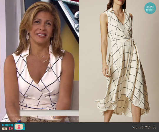 White Midi Wrap Dress by Karen Millen worn by Hoda Kotb on Today