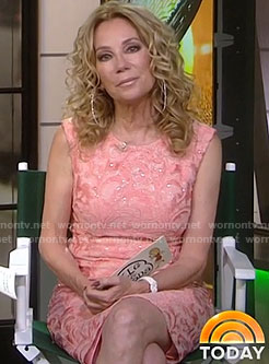 Kathie's pink lace dress on Today
