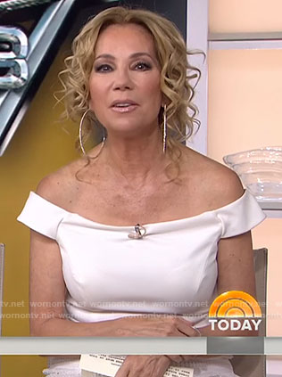 Kathie's white off shoulder dress on Today