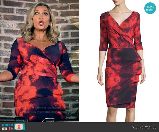La Petite Robe di Chiara Boni Floral Tie-Dye Dress in Winter Blossom Red worn by Vanessa Williams on Daytime Divas