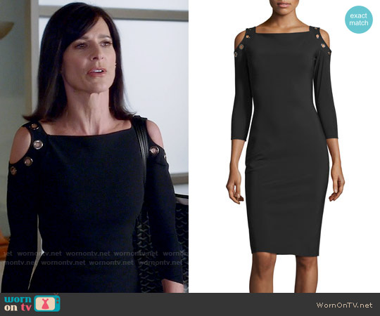 La Petite Robe di Chiara Boni Evie Cold Shoulder Dress worn by Perrey Reeves on Famous in Love