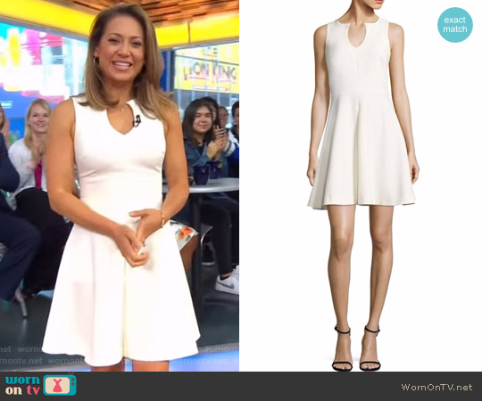 Boley Cutout Neck Dress by Likely worn by Ginger Zee (Ginger Zee) on Good Morning America