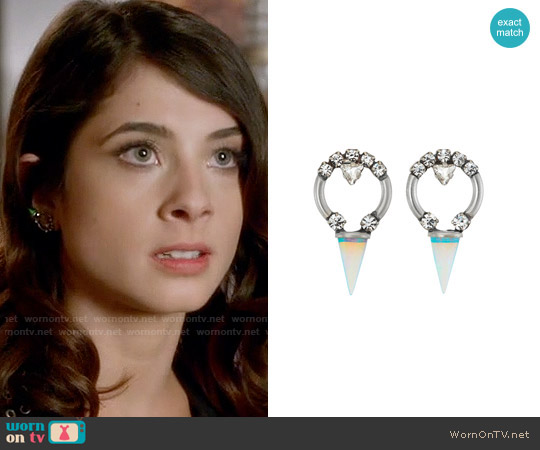 Lionette NY Alma Earrings worn by Alexis Gleen on Famous in Love