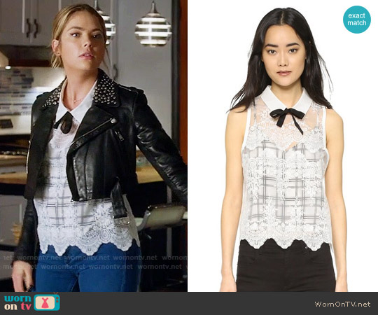 Marissa Webb Owen Blouse worn by Ashley Benson on PLL
