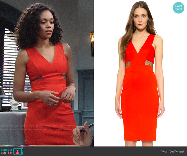 Noam Hanoch Mila Dress worn by Hilary Curtis (Mishael Morgan) on The Young & the Restless
