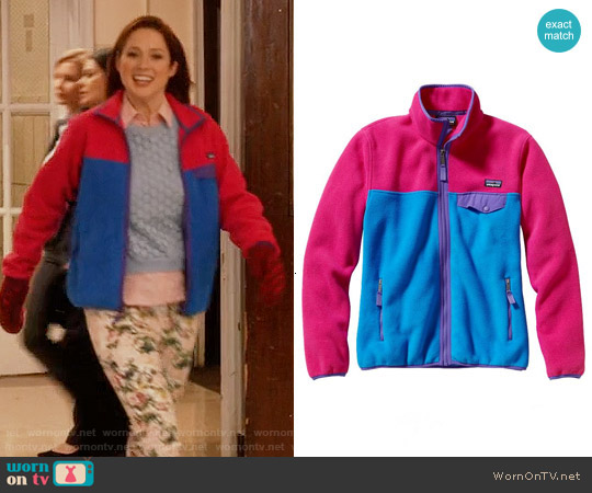 Patagonia Full Zip Snap-T Fleece Jacket worn by Kimmy Schmidt on Unbreakable Kimmy Schmidt
