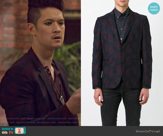Paisley Embroidery Blazer by Paul Smith worn by Harry Shum Jr. on Shadowhunters