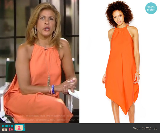 Halter-Neck Handkerchief Hem Dress by Rachel Roy worn by Hoda Kotb on Today