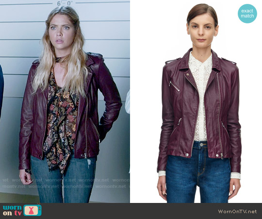 Rebecca Taylor Washed Leather Jacket worn by Hanna Marin on PLL