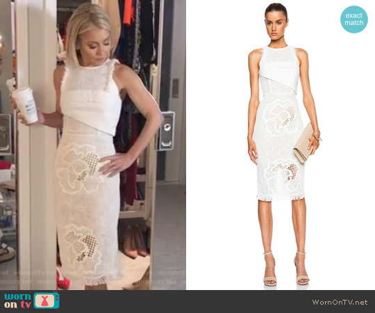 'Abersley' dress by Roland Mouret worn by Kelly Ripa on Live with Kelly & Ryan