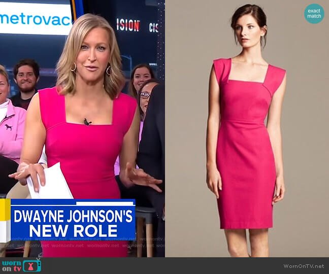 Strappy Sheath Dress by Roland Mouret for Banana Republic worn by Lara Spencer  on Good Morning America