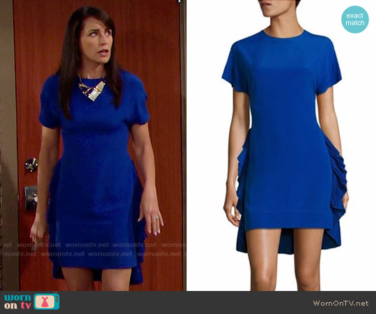 No. 21 Side Pleated Ruffle Silk Blend Dress worn by Quinn Fuller (Rena Sofer) on The Bold & the Beautiful