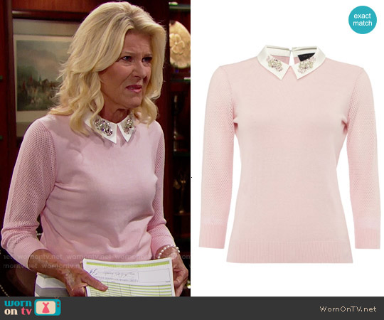 Ted Baker Helane Sweater worn by Alley Mills on The Bold & the Beautiful