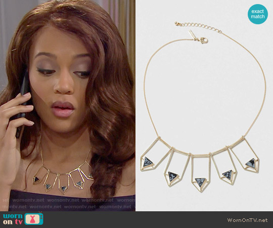 Topshop Semi Precious Arrow Collar Necklace worn by Nicole Avant on The Bold & the Beautiful