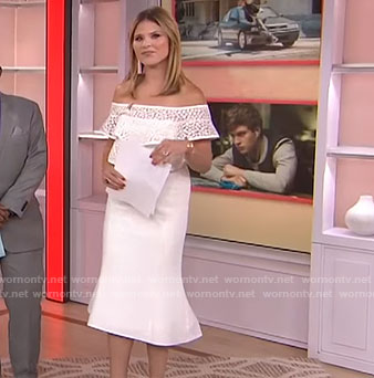 Jenna's white ruffled off-shoulder dress on Today
