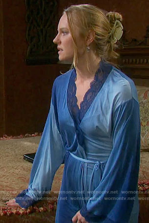 Abby's blue ombre robe on Days of our Lives
