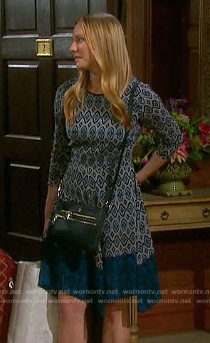 Abby's printed long sleeve dress on Days of our Lives