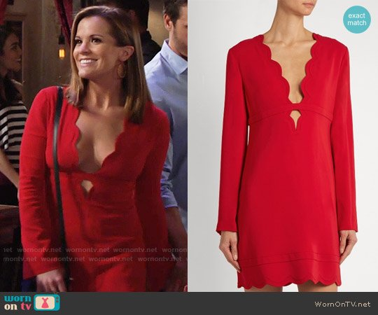 ALC Eve Dress worn by Chelsea Lawson (Melissa Claire Egan) on The Young & the Restless
