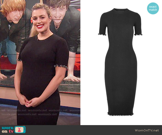 Alexander Wang Studded ribbed cotton-blend dress worn by Carissa Loethen Culiner  on E! News