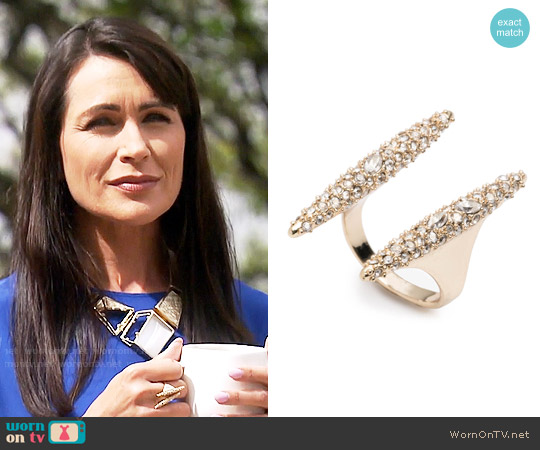 Alexis Bittar Modernist Spear Ring worn by Quinn Fuller (Rena Sofer) on The Bold & the Beautiful