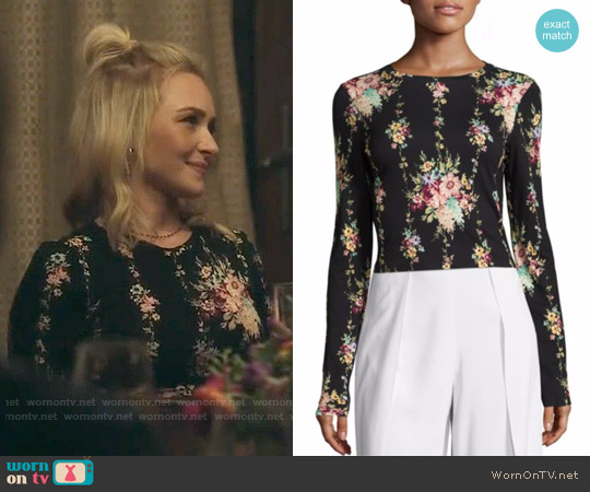Alice + Olivia Delaina Floral Top worn by Hayden Panettiere on Nashville