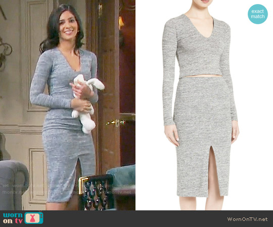 Alice + Olivia Jori Top and Spiga Skirt worn by Camila Banus on Days of our Lives
