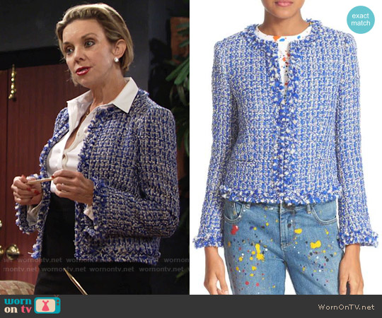 Alice + Olivia Nila Jacket worn by Judith Chapman on The Young & the Restless