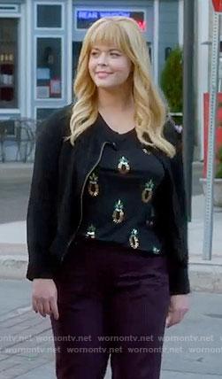 Ali's black sequin pineapple top on Pretty Little Liars