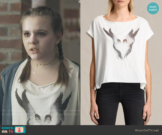 All Saints Lovebird Pina Tee worn by Maisy Stella on Nashville