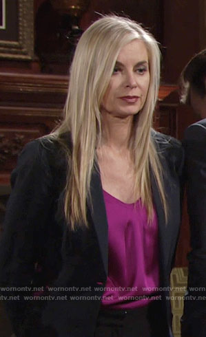 Ashley's magenta top on The Young and the Restless