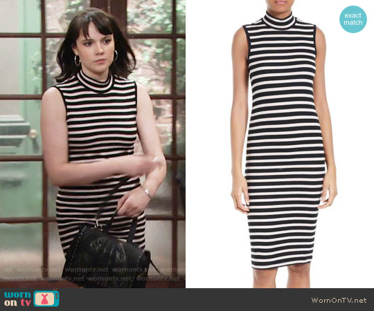 ATM Anthony Thomas Melillo Stripe Rib Jersey Dress worn by Tessa Porter (Cait Fairbanks) on The Young & the Restless