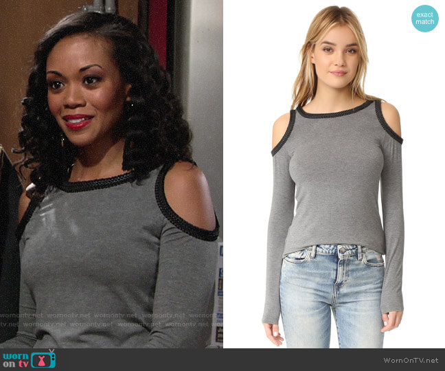 Bailey 44 Harlow Top worn by Hilary Curtis (Mishael Morgan) on The Young & the Restless