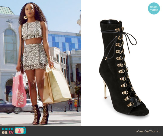 Balmain Ava Booties worn by Tangey Turner on Famous in Love