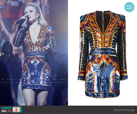 Balmain Embellished Sequin Fitted Dress worn by Hayden Panettiere on Nashville
