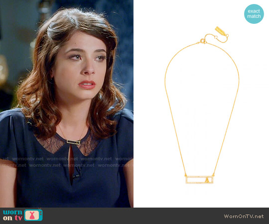 Baublebar Letter Grade Pendant worn by Alexis Gleen on Famous in Love