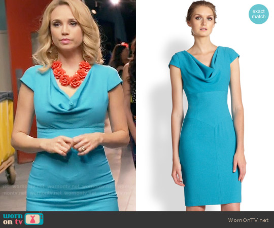 Black Halo Gretchen Dress worn by Heather Flynn-Kellogg (Fiona Gubelmann) on Daytime Divas