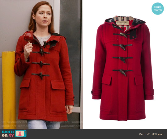 Burberry Brit Baysbrooke Duffle Coat worn by Ellie Kemper on Unbreakable Kimmy Schmidt