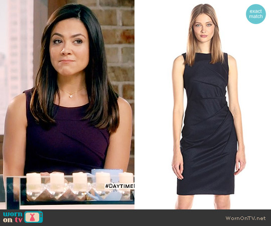 Calvin Klein Starburst Sheath worn by Camille Guaty on Daytime Divas