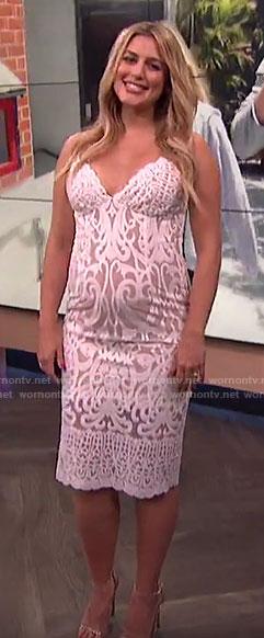 Carissa's white lace dress on E!  News