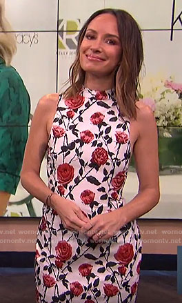 Catt's rose print dress on E! News
