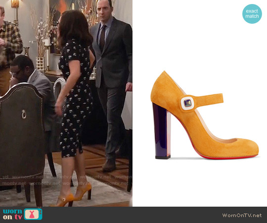 Christian Louboutin Bibaba Mary Jane Pumps worn by Julia Louis-Dreyfus on Veep