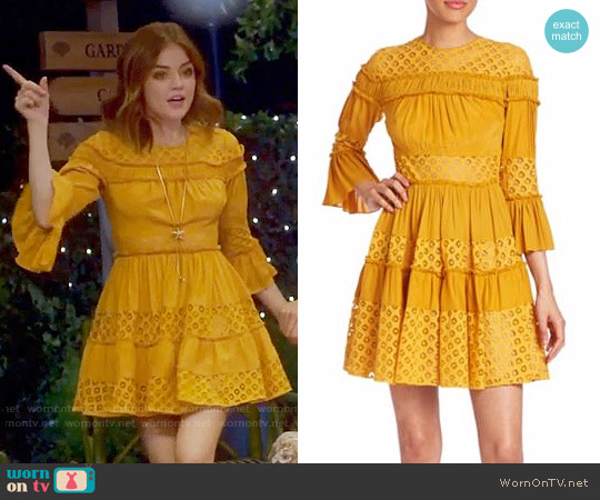 Cinq a Sept Octavia Dress worn by Aria Montgomery (Lucy Hale) on PLL