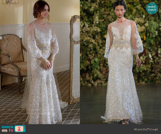 Claire Pettibone Ariel Gown worn by Lucy Hale on PLL