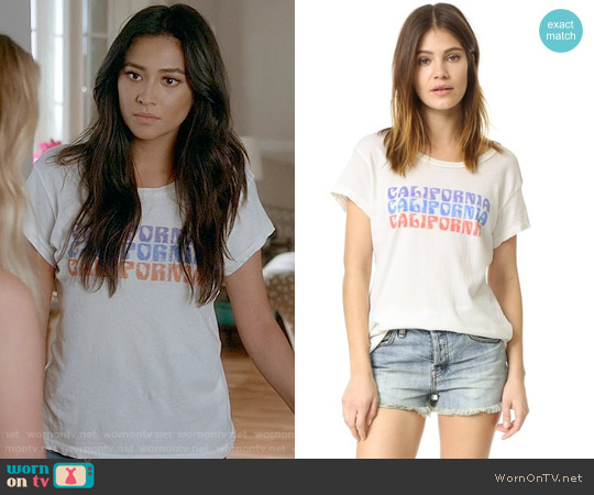 Current Elliott The Crew Neck California Tee worn by Shay Mitchell on PLL
