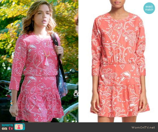 Current Elliott The Tennant Dress worn by Cassandra (Georgie Flores) on Famous in Love