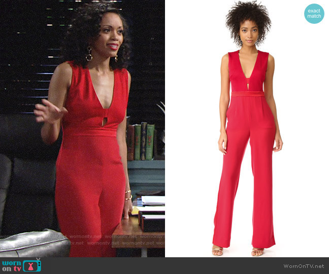 Diane von Furstenberg Kyara Jumpsuit worn by Mishael Morgan on The Young & the Restless