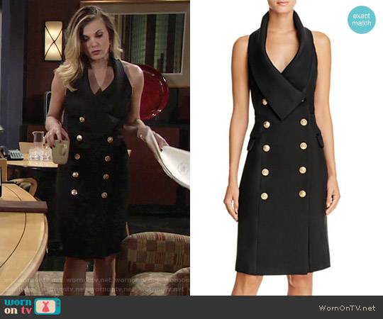 Elliatt Breakthrough Double Breasted Halter Dress worn by Phyllis Newman (Gina Tognoni) on The Young & the Restless